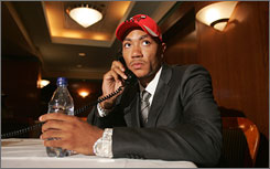 Derrick Rose's phone rang off the hook after his selection at No. 1 to Chicago in the NBA draft.