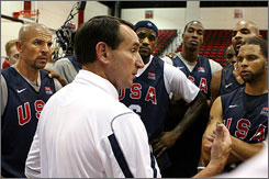 """I wanted them to envision the gold medal game on Aug. 24th, envision being on the gold medal stand and the national anthem being played,"" said USA Basketball coach Mike Krzyzewski, who played Marvin Gaye's classic rendition of the song for his team."