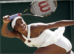 Venus Williams   is getting excited as the second week of Wimbledon gets ready to kick off at the All England Club.