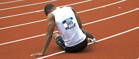 A cramp that eventually became diagnosed as a hamstring injury kept Tyson Gay from qualifying for the Olympics in the 200 meters, but he made the United States team in the 100 and could run in the 4x100 relay.