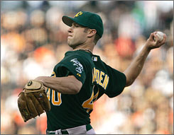 Rich Harden has posted a 5-1 record and a 2.34 ERA this season in Oakland, but he's had a history of injury problems throughout his career.