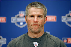 """What I remember about (Brett Favre) is he was ready to retire, and that's how I feel today. I think down deep, that's exactly how he feels.""  Packers chairman emeritus Bob Harlan on Tuesday."