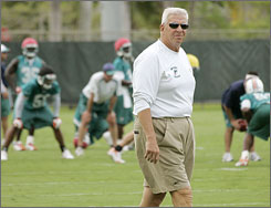 Bill Parcells has traded lazy summer days watching horse races and tending to his garden in Saratoga Springs, N.Y., for the massive project of rebuilding the Miami Dolphins.