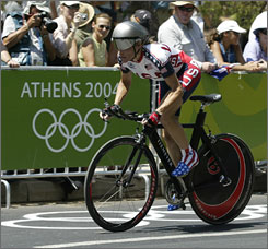 Christine Thorburn placed fourth in the time trial at the 2004 Olympics. She's hoping to move up at least one spot at the Beijing games.