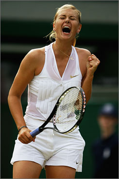 Maria Sharapova won the Australian Open but struggled in the other majors, including a  second-round exit in Wimbledon to Alla Kudryavtseva.
