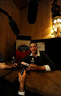 Ryan Braun, a first-time All-Star and Home Run Derby participant, talks to reporters during the National League All-Star press conference Monday afternoon. 