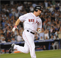 J.D. Drew hit a game-tying two-run home run in the seventh inning at the 2008 Baseball All-Star Game.