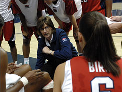 Anne Donovan, the U.S. women's basketball coach, has a strong history as a player after winning a national title and gold medal. Now she will try to lead this year's national team to gold in Beijing.