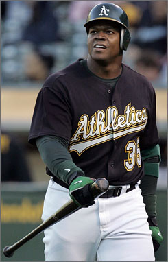 Oakland Athletics designated hitter Frank Thomas will start a running program Friday as part of his rehabilitation. Thomas has been on the DL since May 29.