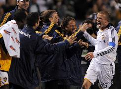 Los Angeles Galaxy's David Beckham is paying dividends for the MLS after his first year playing in the United States.