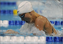 Jessica Hardy won the 100-meter breaststroke at the U.S. trials in Omaha early this month. The Californian's agent says she has left the American team's training base after reportedly flunking a doping test.