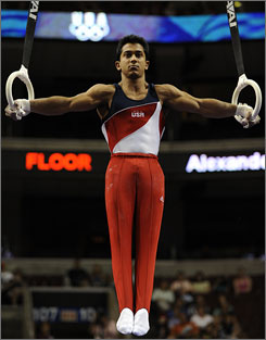 Gymnnast Raj Bhavsar was named an alternate for the Beijing Olympics after the team trials in June, but after injured Paul Hamm withdrew from the competition on Monday, Bhavsar has been called upon to round out the roster.