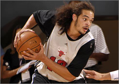 Joakim Noah has been shaky so far in Orlando Pro Summer League play, scoring just 6.4 points per game.
