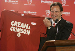 Tom Crean knew he was stepping into a messy situation at Indiana, but the former Marquette coach couldn't have expected starting this season with just one returning player on the roster.