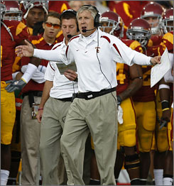 Pete Carroll is excited that his Southern Calfiornia team will be hosting Ohio State in the third week of the season.