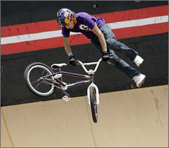 BMX rider Daniel Dhers surprised everyone at last year's X Games to win the gold medal in the BMX Park competition.