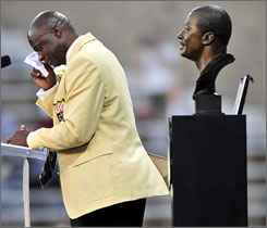 """Deacon Jones said I was gonna cry. You bet I'm gonna cry,"" Darrell Green said upon his induction to the Pro Football Hall of Fame on Saturday. ""You bet your life I'm gonna cry. """
