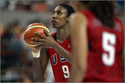 Veteran center Lisa Leslie will suit up for her fourth Olympics for Team USA, which opens group play Aug. 9.