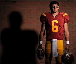 Mark Sanchez will face the pressure of being the starting quarterback at Southern California