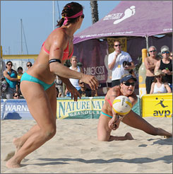 Two of beach volleyball's greatest, Misty May-Treanor, left, and Kerri Walsh, will compete in Beijing with the highest of expectations  the pair is considered the favorite to win another gold medal.