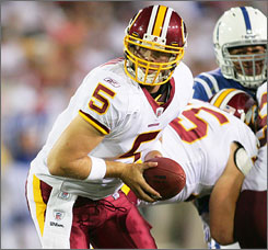 Colt Brennan was 9-of-10 passing with two touchdowns in his first preseason game with the Redskins, but the rookie knows he still has plenty of room for improvement.