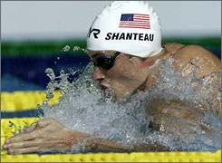 Swimmer Eric Shanteau is facing more than just competition in Beijing  he also faces a battle with his recently diagnosed testicular cancer.