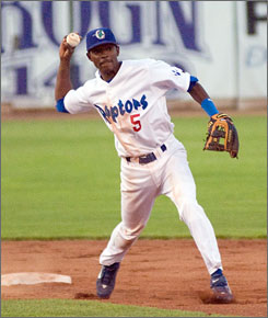 Shortstop Devaris Strange-Gordon, drafted by the Dodgers in June, is the son of Phillies reliever Tom Gordon. He's hitting .304 in rookie league.