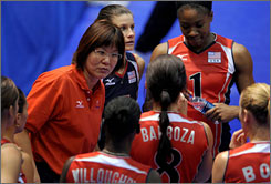"U.S. volleyball coach Lang ""Jenny"" Ping played on China's gold medal-winning team in 1984. Her 1987 wedding was nationally televised in China, and she was honored with her own postage stamp."
