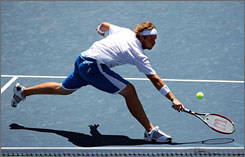 American Mardy Fish, who turned down an invitation to play in the Olympics to stay home and prepare for the U.S. Open, saw his decision payoff as he advanced to the semifinals in Los Angeles.