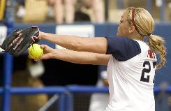 Jennie Finch is likely to get more innings than she did in the 2004 Games, since the USA has three aces on its staff this time, one fewer than last time.