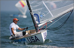 Zach Railey ended the first day of sailing at his first Olympic Games as No. 2 overall after two of 11 races.