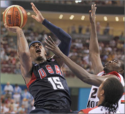 Carmelo Anthony, who scored 12 points against Angola on Tuesday, says he's been waiting for two years for Thursday's rematch against Greece. The Greeks beat the U.S. at the 2006 World Championships.