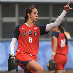 Cat Osterman struck out 13 batters en route to a no-hitter in the United States' 3-0 defeat of Australia.