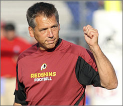 Jim Zorn heads into his first year as head coach in Washington, hoping to carry the Redskins back to the playoffs after a 9-7 campaign in 2007.