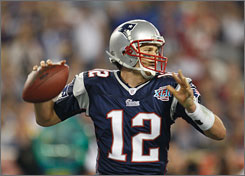 New England Patriots quarterback Tom Brady, shown here during Super Bowl XLII against the New York Giants, expects plenty of competition from fellow quarterbacks in the AFC East this season.