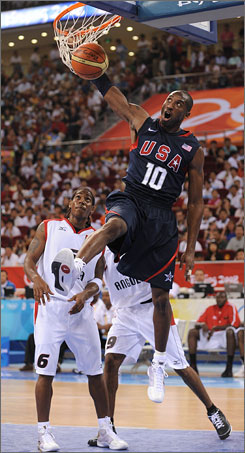 One area of concern for the USA has been its spotty outside shooting, which also plagued the 2004 squad. Most notably, Kobe Bryant has gone 1-for-15 from three-point range.