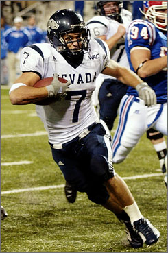 Nevada running back Luke Lippincott is sure to keep the defense on its toes this season. The senior returns after being the 2007 WAC rushing leader and offensive player of the year.