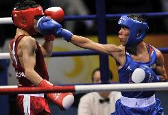 U.S. boxer Luis Yanez lost in a decision to Serdamba Urevdorj of Mongoloa in a 48 kg round .