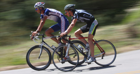 Brothers Matt and Shane Reed train together in Boulder, Colo. Shane, right, still races for the brothers' birth country, New Zealand, while Matt, left, races for the U.S.