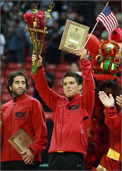 Mike Zadick, left, here at the Olympic Trials in June, had been training in Beijing, hoping an Olympic slot would open when an injured Bulgarian pulled out because of an Achilles tendon injury.