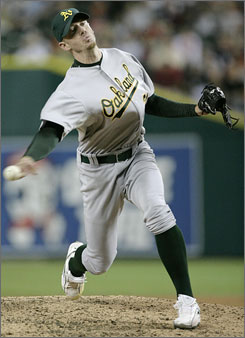 After the 2006 season, the 27-year-old Brad Ziegler converted to a submarine-style throw and he hasn't looked back since. The Athletics' rookie reliever set the major league record for the best career start by a pitcher with 39 consecutive scoreless innings.