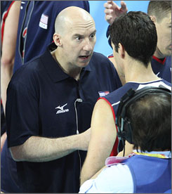 "U.S. coach Hugh McCutcheon says when he's with his players, ""I'm doing fine."""
