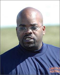 Lincoln University coach O.J. Abanishe  will lead the Lions to their first gridiron battle since 1960.