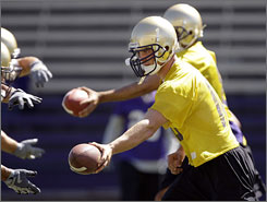 Quarterback Jake Locker will lead Tyrone Willingham's Washington Huskies to battle Saturday in their opener against No. 20 Oregon.