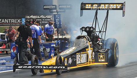 Tony Schumacher's on-track efforts have netted him a sizzling 10 Top Fuel victories this season, including five straight heading into this weekend's U.S. Nationals.