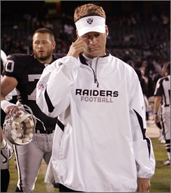 Raiders coach Lane Kiffin hasn't shed much light on the reports that he and Raiders owner Al Davis are at odds. &quot;We have a working relationship, and I think we have the same goal, and that's to get this team to win,&quot; Kiffin said.