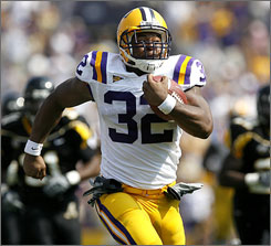 LSU's Charles Scott leaves the Appalachian State defense in his wake on the way to a 29-yard touchdown.