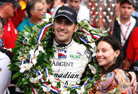 Dario Franchitti and wife Ashley Judd were on top of the world after his victory in the 2007 Indianapolis 500.