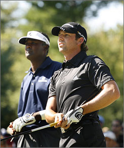 Even a complete collapse by Vijay Singh, left, would leave Sergio Garcia with little chance of catching him for the FedExCup title. Garcia needs two tournament wins to be in the running.