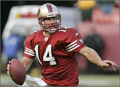 The San Francisco 49ers chose J.T. O'Sullivan, a seven-year veteran with zero career starts, as their No. 1 quarterback.